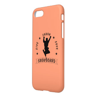 Live Laugh Love SNOWBOARD 2 black text iPhone 7 Case