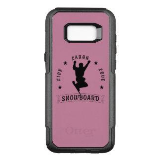 Live Laugh Love SNOWBOARD 2 black text OtterBox Commuter Samsung Galaxy S8+ Case