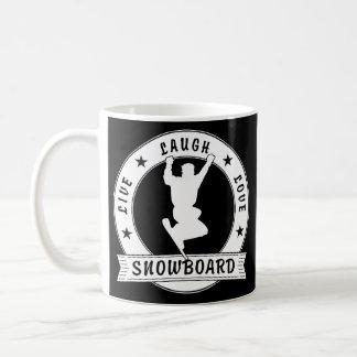 Live Laugh Love SNOWBOARD 2 Circle Coffee Mug