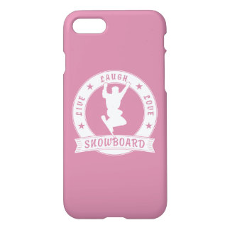 Live Laugh Love SNOWBOARD 2 Circle iPhone 7 Case