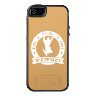 Live Laugh Love SNOWBOARD 2 Circle OtterBox iPhone 5/5s/SE Case