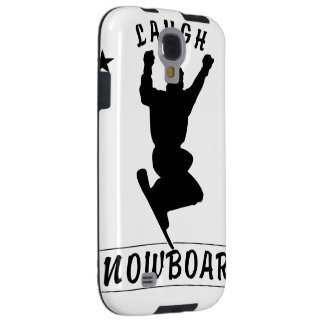 Live Laugh Love SNOWBOARD black text Galaxy S4 Case