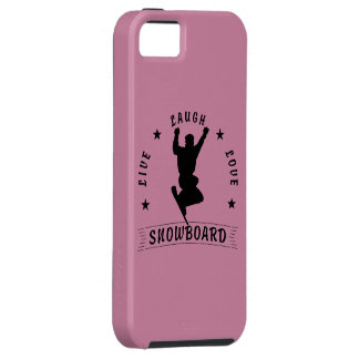 Live Laugh Love SNOWBOARD black text iPhone 5 Covers