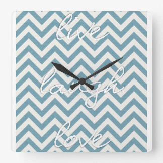 Live, Laugh & Love Square Wall Clock