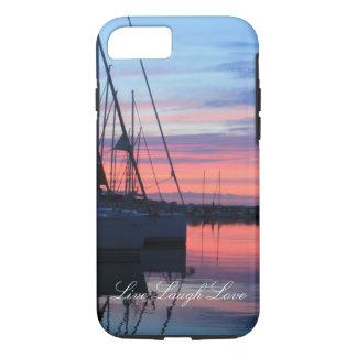 Live Laugh Love Sunset Sailboat Phone Case