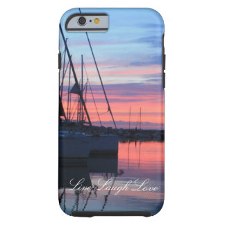 Live Laugh Love Sunset Sailboat Phone Case