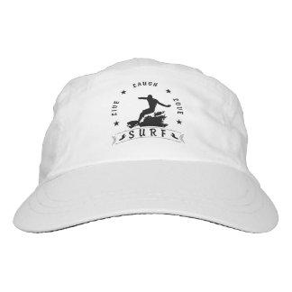 Live Laugh Love Surf 3 BlackText Hat