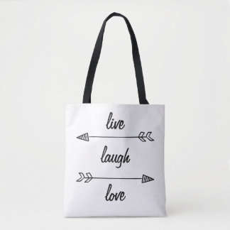 Live, Laugh, Love Tote Bag
