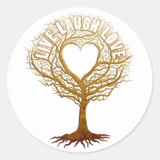 Live Laugh Love - Tree of Life Classic Round Sticker