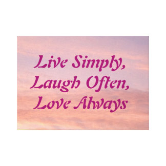 Live, Laugh, Love wall canvas Stretched Canvas Print