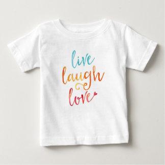 Live, laugh, love watercolor kids T-shirt