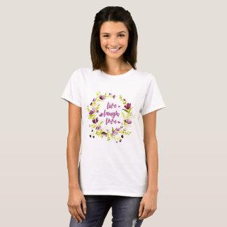 Live Laugh Love Watercolor Wreath T-Shirt