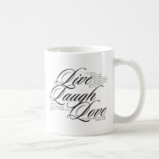 Live Laugh Love with Scripture Mug