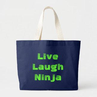 Live Laugh Ninja Large Tote Bag