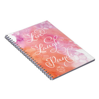 Live Laugh Punch Notebooks
