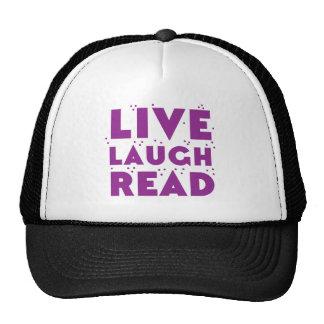 live laugh read cap
