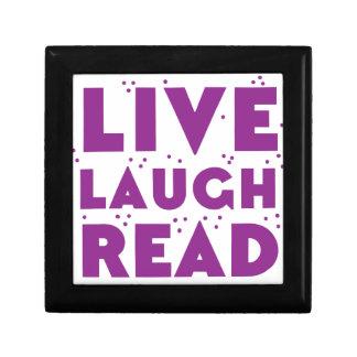 live laugh read small square gift box
