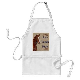 Live Laugh Ride! Horse Adult Apron