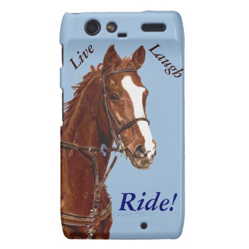 Live! Laugh! Ride Horse Motorola Droid RAZR Cases