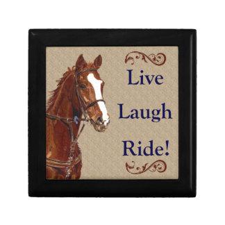 Live! Laugh! Ride! Horse Gift Box