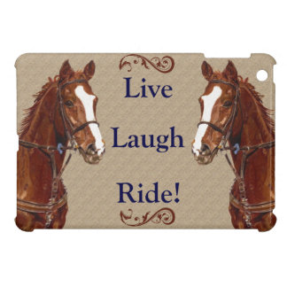 Live! Laugh! Ride! Horse iPad Mini Covers