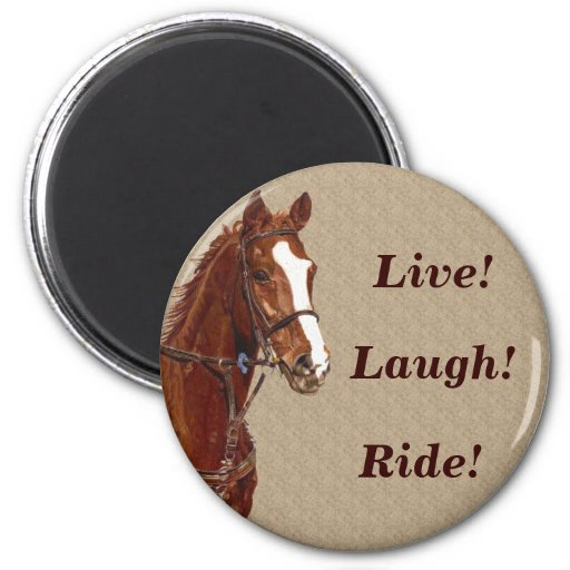 Live! Laugh! Ride Horse Refrigerator Magnets