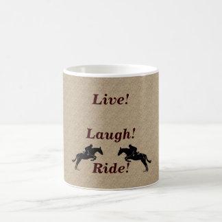 Live! Laugh! Ride Horse Basic White Mug