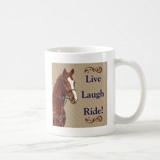 Live Laugh Ride! Horse Mugs