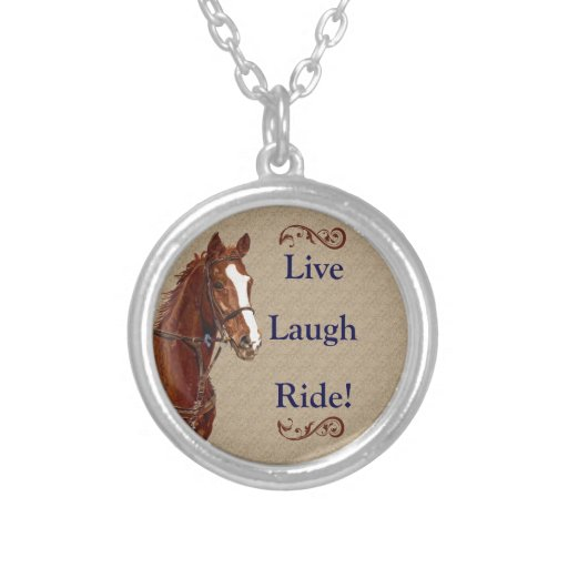 Live Laugh Ride! Horse Pendant