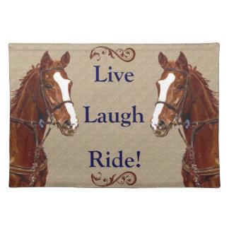 Live Laugh Ride! Horse Place Mats