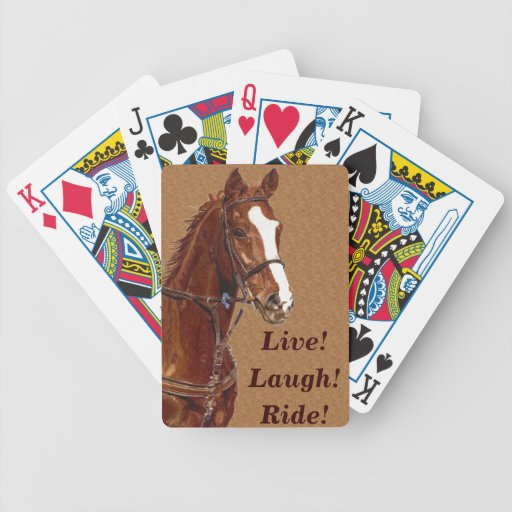 Live! Laugh! Ride Horse Bicycle Poker Deck