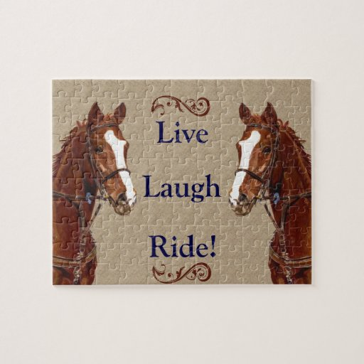 Live! Laugh! Ride! Horse Puzzle