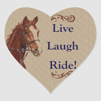 Live Laugh Ride Horse Stickers