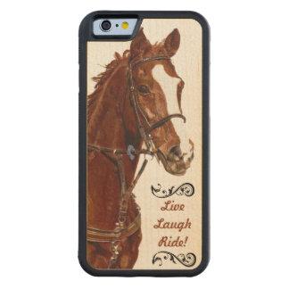 Live Laugh Ride! Horse Maple iPhone 6 Bumper