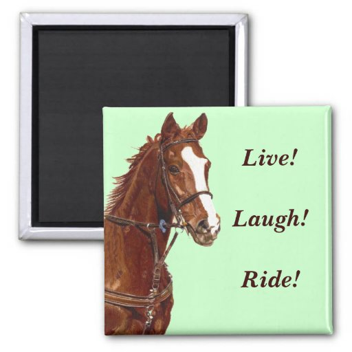 Live! Laugh! Ride! Refrigerator Magnet