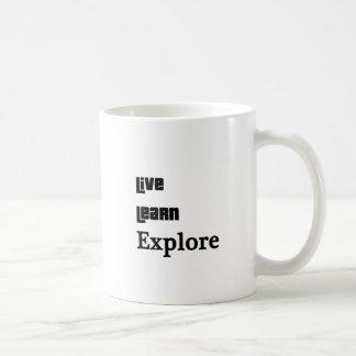 Live Learn Explore Coffee Mug
