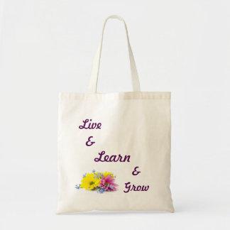 Live, Learn, Grow Totebag