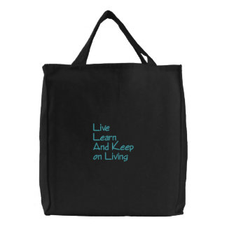 Live LearnAnd Keepon Living Embroidered Tote Bags