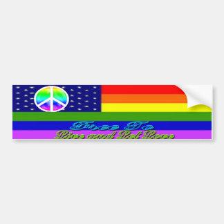 Live & Let Love Rainbow Peace Sticker Bumper Sticker