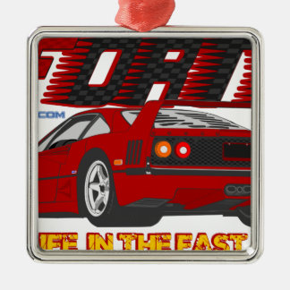 LIVE_LIFE_IN_THE_FAST_LANE: forty Metal Ornament