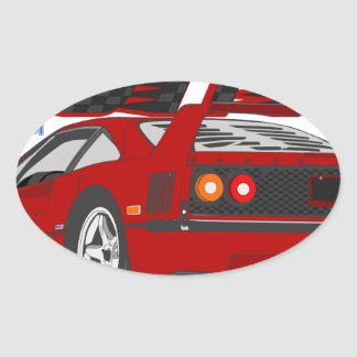 LIVE_LIFE_IN_THE_FAST_LANE: forty Oval Sticker