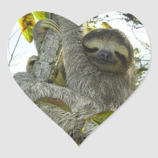 Live Life Like a Sloth Heart Sticker