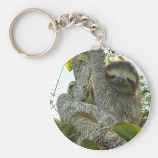 Live Life Like a Sloth Key Ring