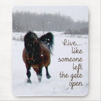 Live Life.....Like someone left the gate open! Mouse Pad