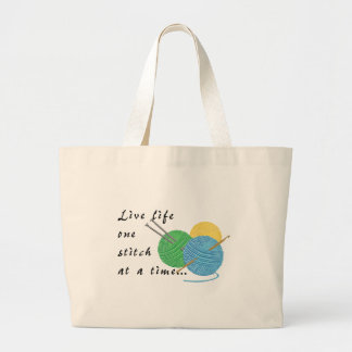Live Life One Stitch at a Time Tote Bag