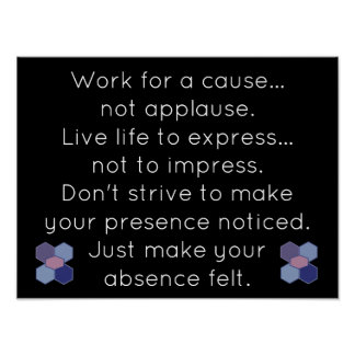 Live life to express - quote - art print