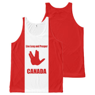Live Long Canada All-Over All-Over Print Singlet