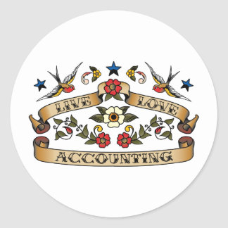 Live Love Accounting Classic Round Sticker