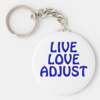 Live Love Adjust Key Ring