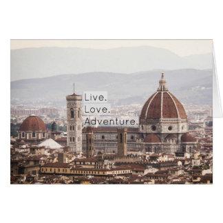 Live Love Adventure Florence Notecard